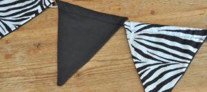 Girlande zebra schwarz / zebra black