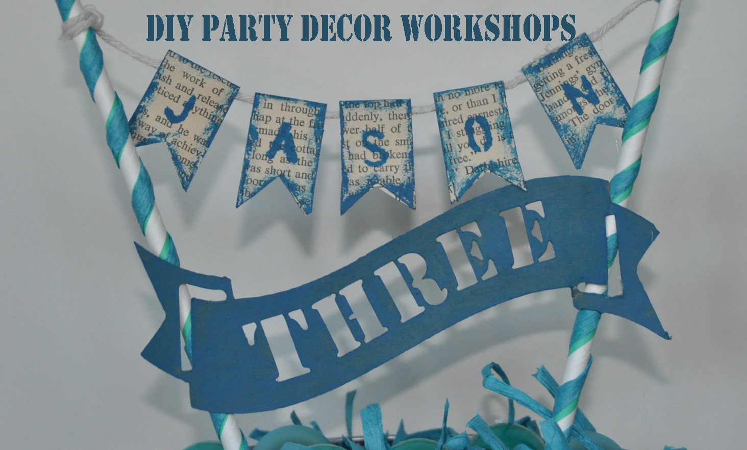 DIY PARTY DECOR CRAFT WORKSHOP Zebra Rose Hire Berlin | cake toppers cupcake wrappers cake stands buntinf ...