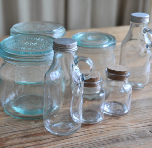 Dekoration, Berlin, Glasflaschen, glass bottles, decor