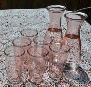 Gläser, Rosa Wassergläser, glasses, pink tumblers, Berlin