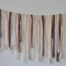 pink and cream ribbons, rosa grau und beige schleifen