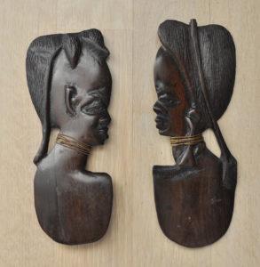 Afrikanische holz hölzern gesicht / African wood wooden carved face, Africa