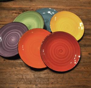 Keramikgeschirr Berlin dekoverleih Partydekoration geschirr farbige keramikteller decor hire Zebra rose sideplates