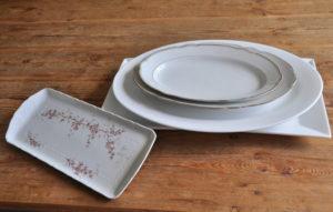 bone china platter / servierteller dekoverleih decor hire Berlin zebra rose