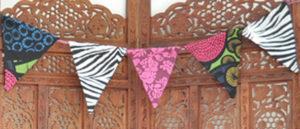 Girlande zebra rosa bunt eklektisch / bunting zebra pink multi colour