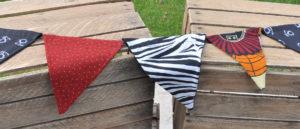 wimpelkette zebra orange tanzania rot etnisch / zebra orange tanzania ethnic