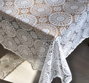 Dekoration, Berlin, Verleih, Spitze, Tischdeke, Lace table cloth