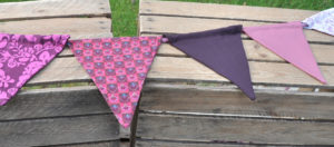 wimpelkette rosa lila / pink purple