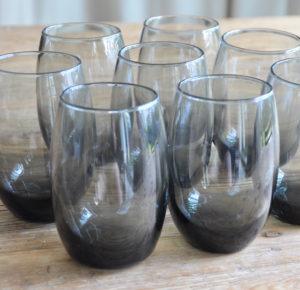 Gläser, Anthrazit Wassergläser, glasses, black tumblers, Berlin