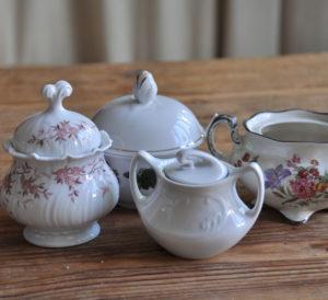 Tea party, Zuckerdose, Milchkanne / Sugar bowl, milk jug, berlin, tea time dekoverleih decor hire berlin zebra rose