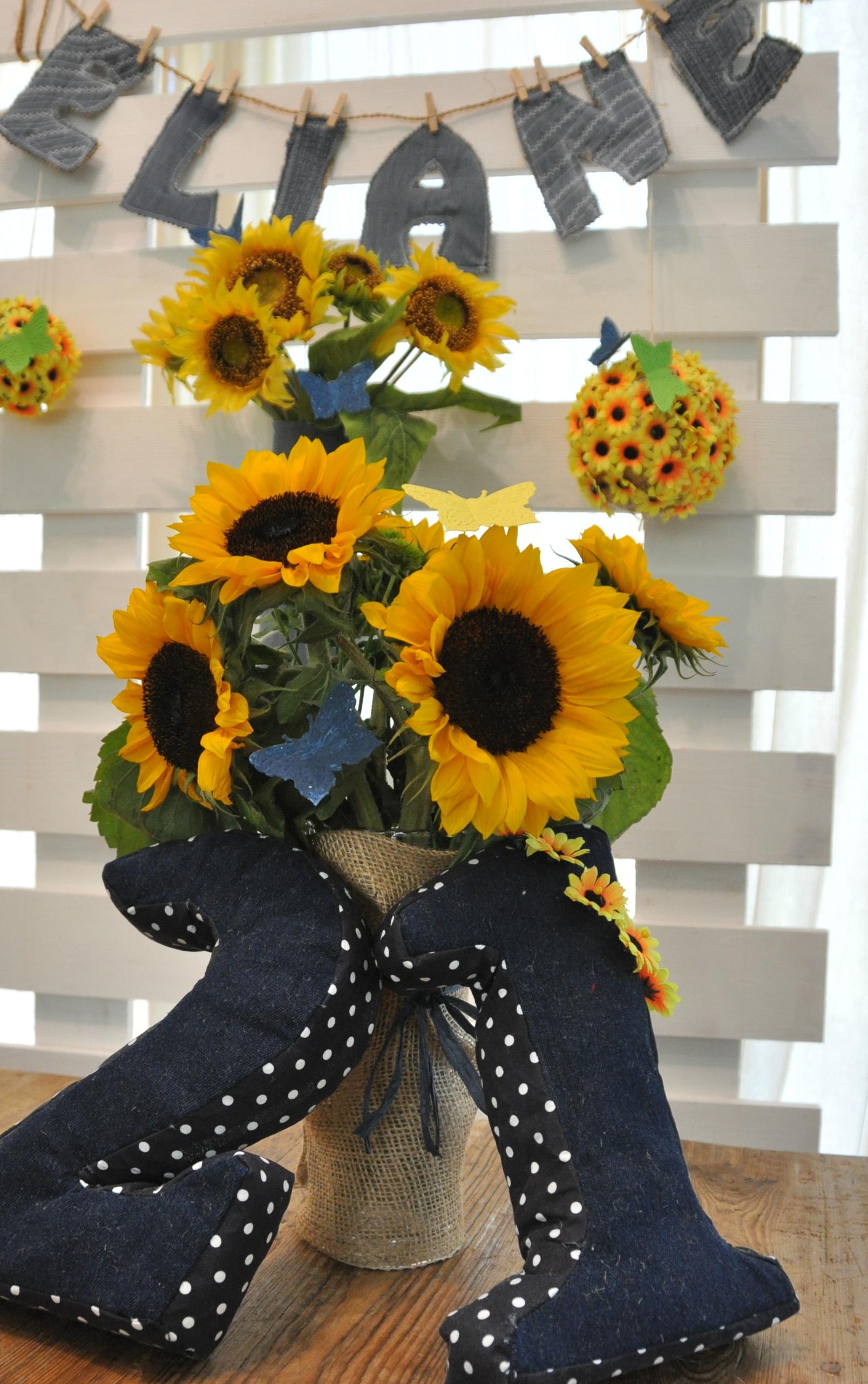 Decor hire. Dekoverleih Zebra Rose Berlin 2017. Sunflower party