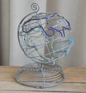 Dekoration, Berlin, Drahtglobus, wire globe, decor
