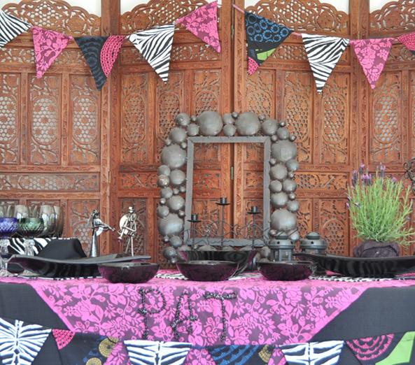 Partydeko dekoverleih berlin eclectic eklektisch girlande bunting handmade hand-crafted handgemacht