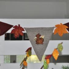 kids party woodlands theme autumn decor hire berlin bunting critters themen-deko mottoparty girlande dekoverleih herbst
