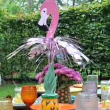 Dekoverleih Berlin Themen-Deko Mottoparty Flamingo fun pallettisch Kinderparty decor hire kids party