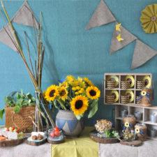 Kids party theme decor berlin themendeko mottoparty kinderparty sunflowers Sonnenblumen