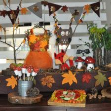 Woodlands theme autumn decor hire kids party berlin kinderparty mottoparty themen-deko herbst dekoverleih